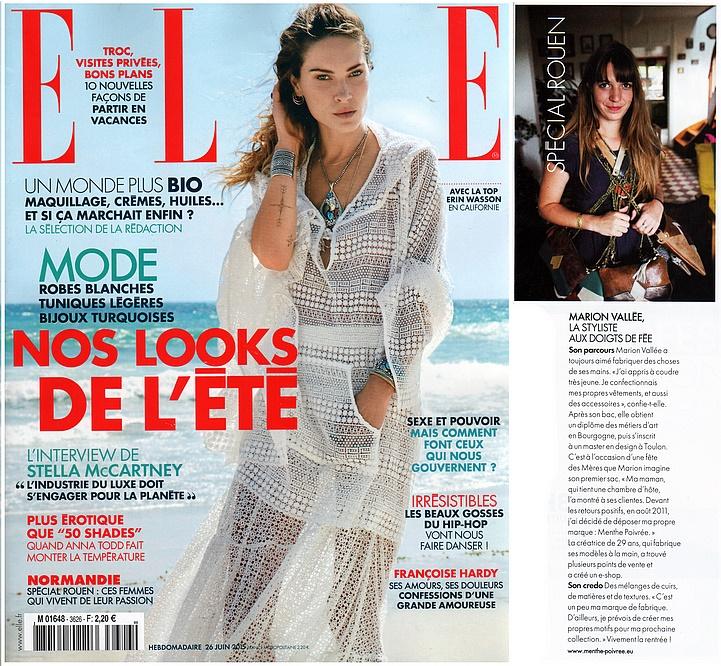Interview Elle magazine - Menthe Poivrée
