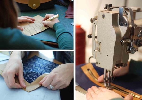 Atelier Sac en cuir de Créateur Made in France Menthe Poivrée
