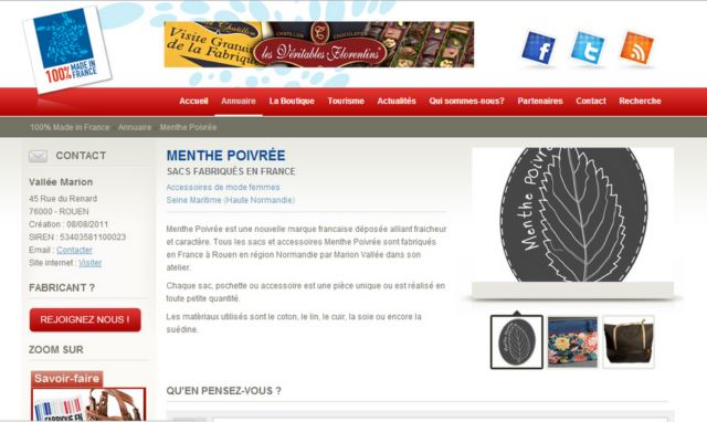 100% Made in France - Menthe Poivrée