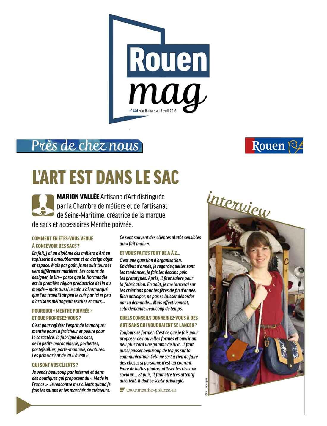 Interview Rouen Mag' - Menthe Poivrée
